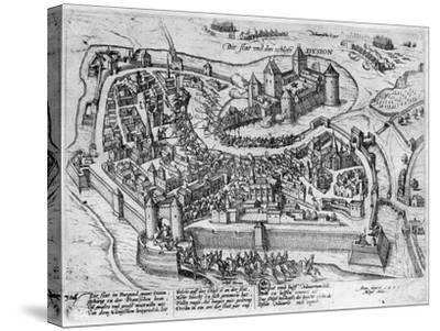 Henri IV (1553-1610) Entering Dijon--Stretched Canvas Print
