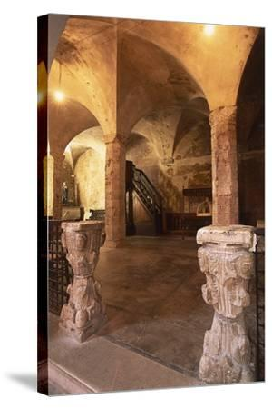 Interiors of a Church--Stretched Canvas Print