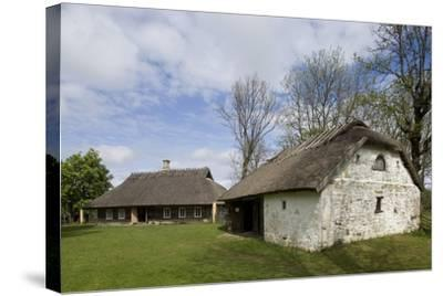 Houses with Thatched Roofs--Stretched Canvas Print