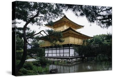 Kinkakuji or Temple of the Golden Pavilion Is Reliquary of Rokuonji Temple--Stretched Canvas Print