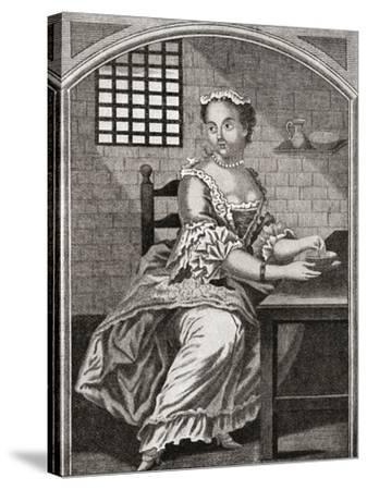 Marie Catherine Taperet 1728 - 1755. Seen Here in Prison before Being Executed in the Place De Grêv--Stretched Canvas Print