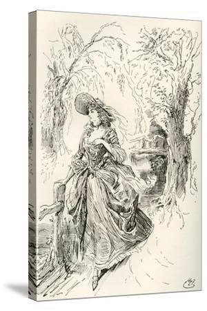 Miss Haredale. Illustration by Harry Furniss for the Charles Dickens Novel Barnaby Rudge--Stretched Canvas Print