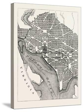 Plan of the City of Washington--Stretched Canvas Print
