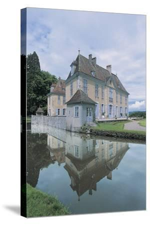 Reflection of a Castle in Water--Stretched Canvas Print