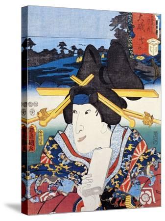 Portrait of Kabuki Theatre Actress--Stretched Canvas Print