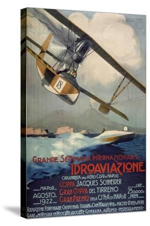 Poster for International Week of Hydro-Airplanes (Schneider Cup--Stretched Canvas Print