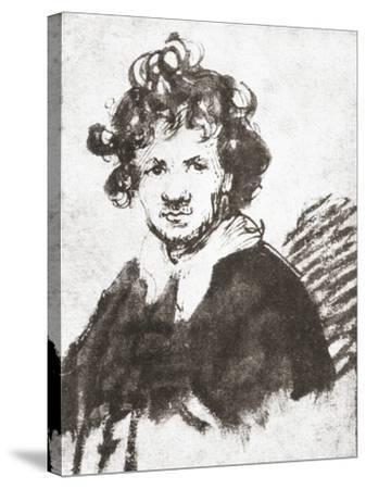Self Portrait of Rembrandt Harmenszoon Van Rijn--Stretched Canvas Print