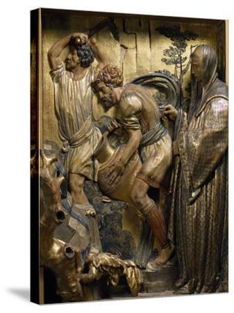 Saint Benedict Originates Water Spring in Subiaco--Stretched Canvas Print