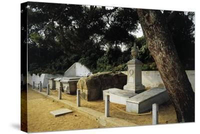 Tomb of Giuseppe Garibaldi in Centre of Family Cemetery--Stretched Canvas Print