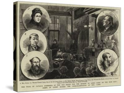 The Trial of Patrick O'Donnell at the Old Bailey for the Murder of James Carey on the High Seas--Stretched Canvas Print