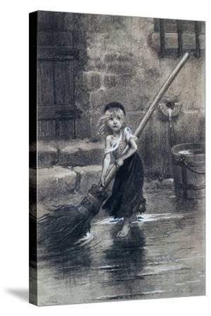 Young Cosette--Stretched Canvas Print