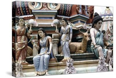 Wooden Statues from Sri Veeramakaliamman Temple in Serangoon Road--Stretched Canvas Print