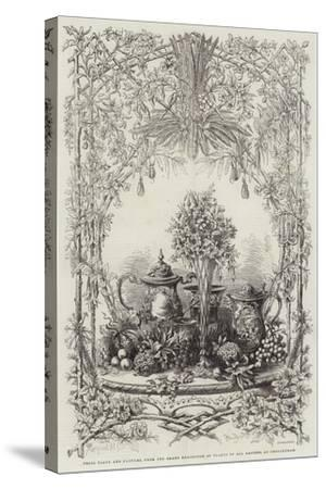 Prize Plate and Flowers, from the Grand Exhibition of Plants of All Nations, at Cheltenham--Stretched Canvas Print