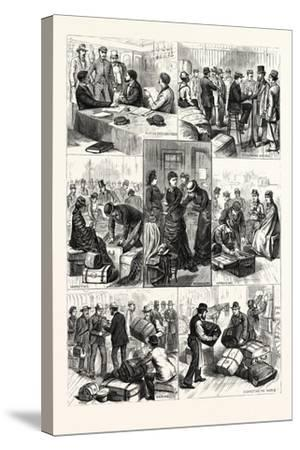 New York: the Terror of Ocean Travelers, a Day with a Custom House Inspector. U.S., 1880 1881--Stretched Canvas Print