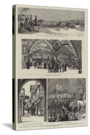 The Opening of the Royal Mining and Industrial Exhibition at Newcastle-On-Tyne by the Duke of Cambr--Stretched Canvas Print