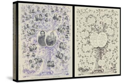 A Jubilee Genealogical Tree, Showing the Descendants of Her Majesty Queen Victoria--Stretched Canvas Print