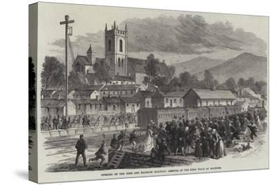 Opening of the Cork and Macroom Railway, Arrival of the First Train at Macroom--Stretched Canvas Print