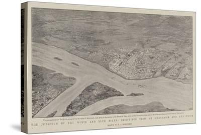 The Junction of the White and Blue Niles, Bird'S-Eye View of Omdurman and Khartoum--Stretched Canvas Print