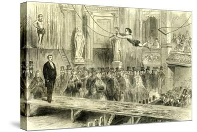 Oxford Music Hall U.K. 1862 the Juvenile Professors of the Trapeze Great Britain--Stretched Canvas Print