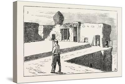 The Russian Expedition to Khiva: Sentinel on the Walls of the Fortress Chasar Asp., 1873--Stretched Canvas Print