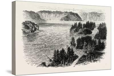 St. John's River, Frontiers of New Brunswick and Maine, North America, USA, 1870S--Stretched Canvas Print