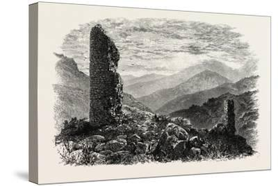 The Canigou, from Mont Louis, the Pyrenees, France, 19th Century--Stretched Canvas Print