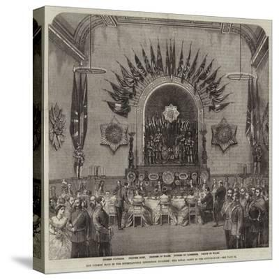 The Guards' Ball in the International Exhibition Building, the Royal Party in the Supper-Room--Stretched Canvas Print