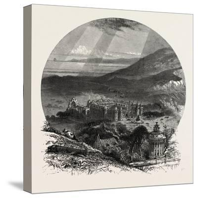 Holyrood Palace, Edinburgh and the South Lowlands, Scotland,19th Century--Stretched Canvas Print