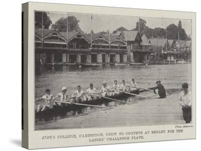 Jesus College, Cambridge, Crew to Compete at Henley for the Ladies' Challenge Plate--Stretched Canvas Print