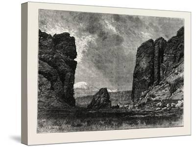 View in Colorado: the Gate of the Garden of the Gods, USA, 1870S--Stretched Canvas Print