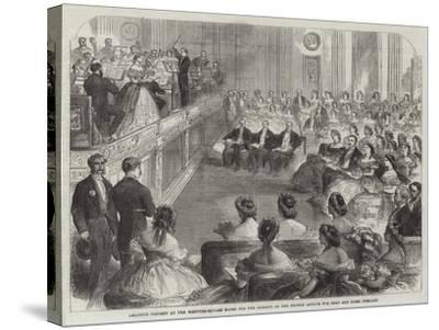 Amateur Concert at the Hanover-Square Rooms for the Benefit of the British Asylum for Deaf and Dumb--Stretched Canvas Print