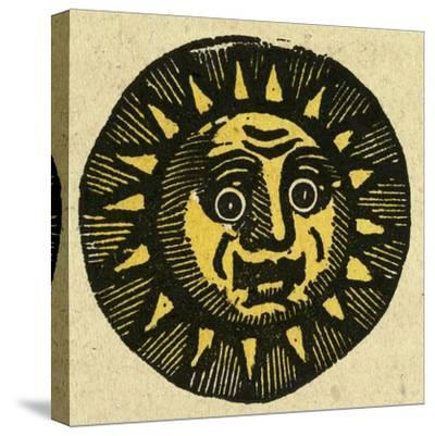 Illustration of English Tales Folk Tales and Ballads. the Face of the Sun--Stretched Canvas Print