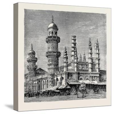 The Viceroy of India's Visit to Rangoon, British Burma: Mahomedan Mosque--Stretched Canvas Print