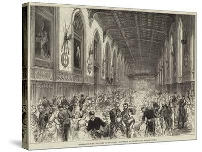 Marriage of Hrh the Duke of Connaught, Dejeuner in St George's Hall, Windsor Castle--Stretched Canvas Print