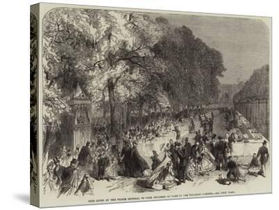 Fete Given by the Prince Imperial to Poor Children of Paris in the Tuileries Gardens--Stretched Canvas Print