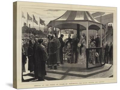 Arrival of the Prince of Wales at Portsmouth, the Mayor Reading the Address--Stretched Canvas Print