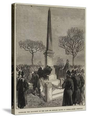Unveiling the Monument of the Late Sir Richard Mayne at Kensal-Green Cemetery--Stretched Canvas Print
