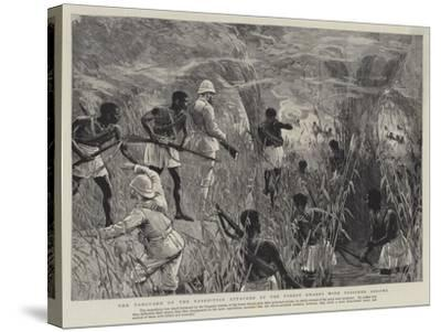 The Vanguard of the Expedition Attacked by the Forest Dwarfs with Poisoned Arrows--Stretched Canvas Print