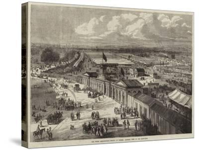 The Royal Agricultural Society at Oxford, General View of the Show-Yard--Stretched Canvas Print