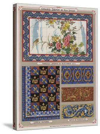 Page from the Catalogue of the Grand Depot De Porcelaines, Faiences Et Verreries--Stretched Canvas Print