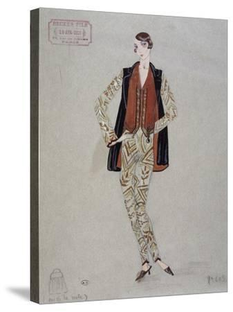 Printed Shirt, Pants and Waistcoat, Model by Becker Fils - Paris, 1926, Watercolour, France--Stretched Canvas Print