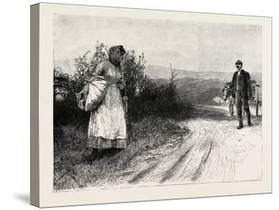 Tess of the D'Urbervilles: Tess Stood Still, and Turned to Look Behind Her--Stretched Canvas Print