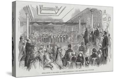 Annual Meeting of the British and Foreign School Society, Lord John Russell, Mp, in the Chair--Stretched Canvas Print