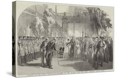 Opening of the Great Exhibition, Entrance of Her Majesty and His Royal Highness Prince Albert--Stretched Canvas Print