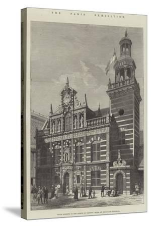 The Paris Exhibition, Dutch Building in the Avenue of Nations, Model of the Hague Townhall--Stretched Canvas Print