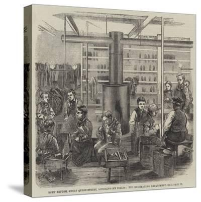 Boys' Refuge, Great Queen-Street, Lincoln'S-Inn Fields, the Shoemaking Department--Stretched Canvas Print