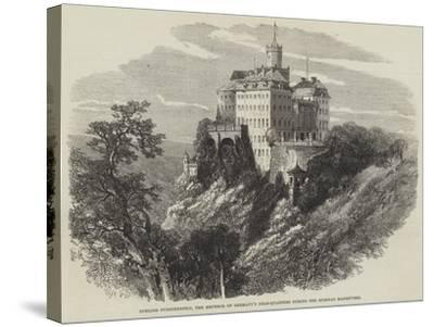 Schloss Furstenstein, the Emperor of Germany's Head-Quarters During the Silesian Manoeuvres--Stretched Canvas Print