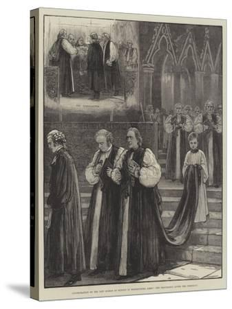Consecration of the New Bishop of Sydney in Westminster Abbey, the Procession after the Ceremony--Stretched Canvas Print