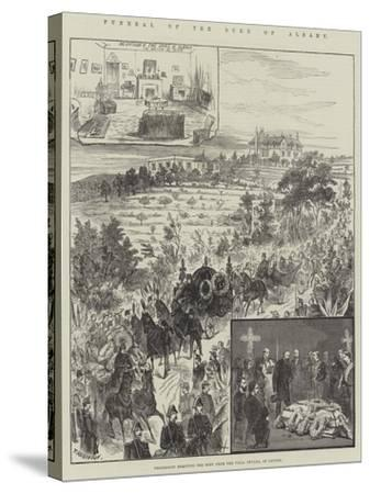 Funeral of the Duke of Albany, Procession Removing the Body from the Villa Nevada, at Cannes--Stretched Canvas Print