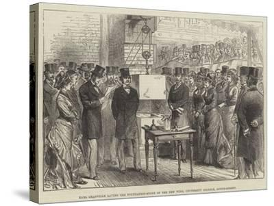 Earl Granville Laying the Foundation-Stone of the New Wing, University College, Gower-Street--Stretched Canvas Print